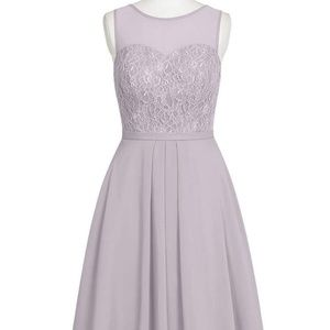 Azazie Bridesmaid dress, Willow, knee length, dusk